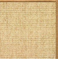 Sand Sisal Rug with Serged Border (Color 29989) - Free Shipping