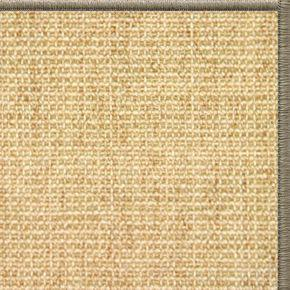 Sand Sisal Rug with Serged Border (Color 30008) - Free Shipping