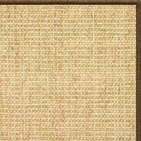 Sand Sisal Rug with Serged Border (Color 3295) - Free Shipping