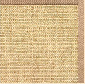 Sand Sisal Rug with Straw Cotton Border