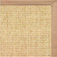 Sand Sisal Rug with Straw Cotton Border - Free Shipping