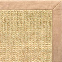 Sand Sisal Rug with Tan Linen Border - Free Shipping