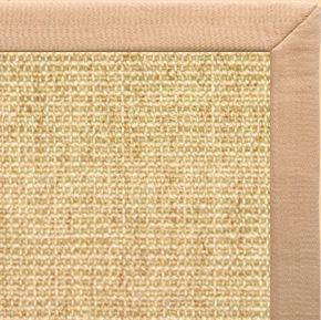 Sand Sisal Rug with Tan Linen Border