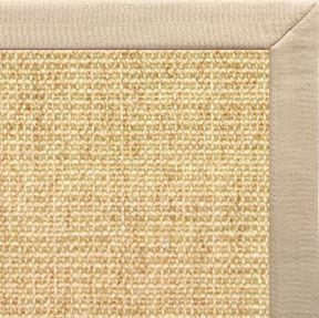 Sand Sisal Rug with Taupe Linen Border