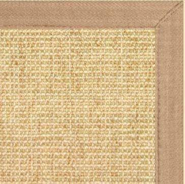 Sand Sisal Rug with Wheat Extra Wide Canvas Border