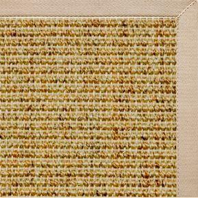 Spice Sisal Rug with Alabastor Cotton Border - Free Shipping
