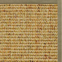 Spice Sisal Rug with Basil Green Cotton Border - Free Shipping