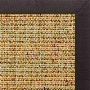 Spice Sisal Rug with Black Linen Border - Free Shipping