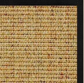 Spice Sisal Rug with Black Onyx Cotton Border