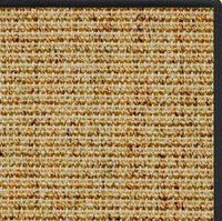 Spice Sisal Rug with Black Serged Border - Free Shipping