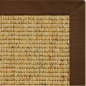 Spice Sisal Rug with Bronze Cotton Border - Free Shipping