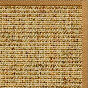 Spice Sisal Rug with Butter Rum Cotton Border - Free Shipping