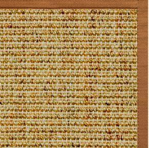 Spice Sisal Rug with Caramel Cotton Border - Free Shipping