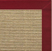 Spice Sisal Rug with Cardinal Red Cotton Border - Free Shipping