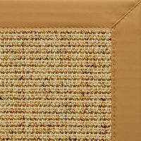 Spice Sisal Rug with Chamois Faux Leather Border - Free Shipping