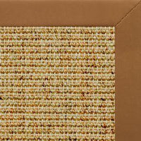 Spice Sisal Rug with Cinnamon Faux Leather Border - Free Shipping
