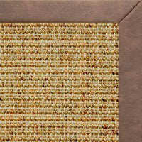 Spice Sisal Rug with Coco Faux Leather Border - Free Shipping