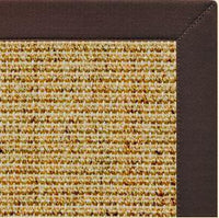 Spice Sisal Rug with Cocoa Bean Cotton Border - Free Shipping
