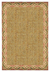 Area Rugs - Sustainable Lifestyles Spice Sisal Rug With Della Tapestry Border