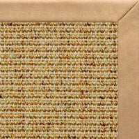 Spice Sisal Rug with Desert Faux Leather Border - Free Shipping