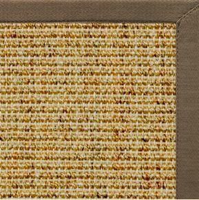 Spice Sisal Rug with Eucalyptus Cotton Border - Free Shipping