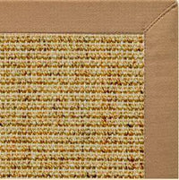 Spice Sisal Rug with Granola Cotton Border - Free Shipping