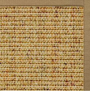 Spice Sisal Rug with Green Mist Cotton Border