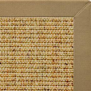 Spice Sisal Rug with Harvest Haze Cotton Border - Free Shipping