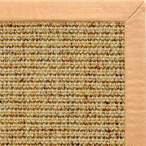 Spice Sisal Rug with Honey Linen Border - Free Shipping