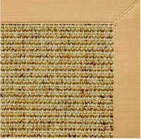Spice Sisal Rug with Honeycomb Cotton Border - Free Shipping