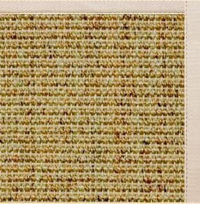 Spice Sisal Rug with Ivory Cotton Border