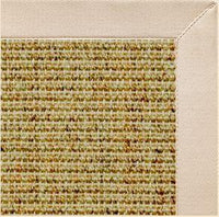 Spice Sisal Rug with Ivory Cotton Border - Free Shipping