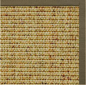 Spice Sisal Rug with Khaki Green Cotton Border