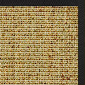 Spice Sisal Rug with Lava Black Cotton Border