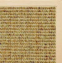 Spice Sisal Rug with Magnolia Cotton Border - Free Shipping