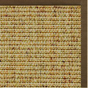 Spice Sisal Rug with Marsh Brown Cotton Border