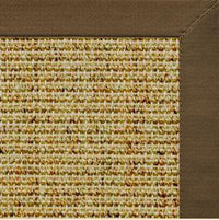 Spice Sisal Rug with Marsh Brown Cotton Border - Free Shipping
