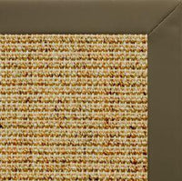 Spice Sisal Rug with Moss Faux Leather Border - Free Shipping