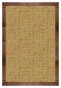 Area Rugs - Sustainable Lifestyles Spice Sisal Rug With Oak Leather Border