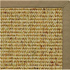 Spice Sisal Rug with Oat Straw Cotton Border - Free Shipping