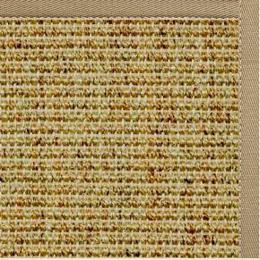 Spice Sisal Rug with Oatmeal Brown Cotton Border