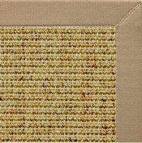 Spice Sisal Rug with Oatmeal Brown Cotton Border - Free Shipping