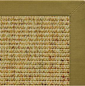 Spice Sisal Rug with Olive Green Cotton Border - Free Shipping