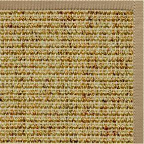 Spice Sisal Rug with Pale Ash Cotton Border