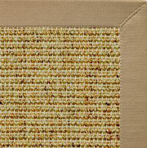 Spice Sisal Rug with Pale Ash Cotton Border - Free Shipping