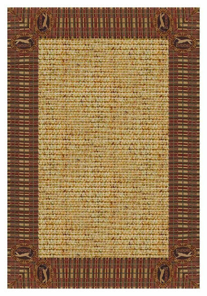Area Rugs - Sustainable Lifestyles Spice Sisal Rug With PGA Tour Golf Tapestry Border