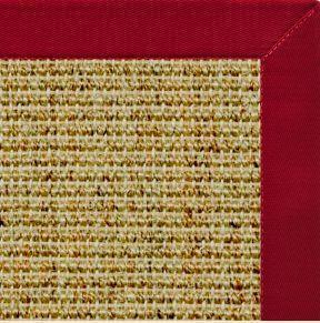 Spice Sisal Rug with Poppy Red Cotton Border - Free Shipping