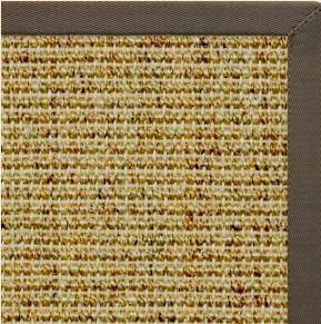 Spice Sisal Rug with Rye Brown Cotton Border - Free Shipping