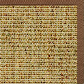 Spice Sisal Rug with Sahara Brown Cotton Border