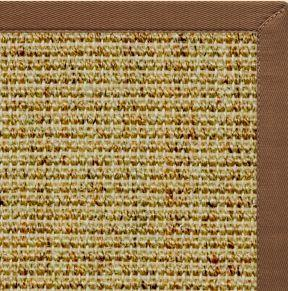Spice Sisal Rug with Sahara Brown Cotton Border - Free Shipping